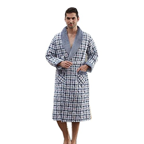 LIUDOU Cotone cotone pigiama cotone spessi accappatoi cotone cotone Extra