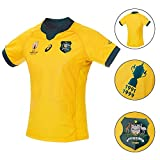 Breathable Rugby World Cup 2019 Jersey Polo Shirt Australien Wallabies Fans Heim/Auswärts Match Training Kurzarm Klassisches Leichte und schnell trocknende Sportbekleidung T-ShirtXXL