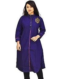 Aarti Collections Stylish Dark Blue Denim embroided Kurta