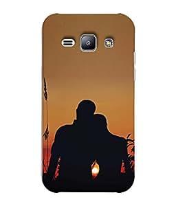 Snapdilla Designer Back Case Cover for Samsung Galaxy J1 (2015) :: Samsung Galaxy J1 4G (2015) :: Samsung Galaxy J1 4G Duos :: Samsung Galaxy J1 J100F J100Fn J100H J100H/Dd J100H/Ds J100M J100Mu (Sun Sky Landscape Sunrise Men Women )