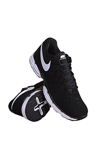 Nike Men's Lunar Fingertrap Training Shoe Black White Black
