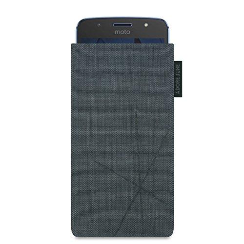Adore June Motorola Moto G5S Hülle, [Serie Axis] Handytasche mit Rückzugsfunktion, Tasche mit abstrakter Steppung [Display-Reinigungseffekt] für Moto G5S - Dunkelgrau