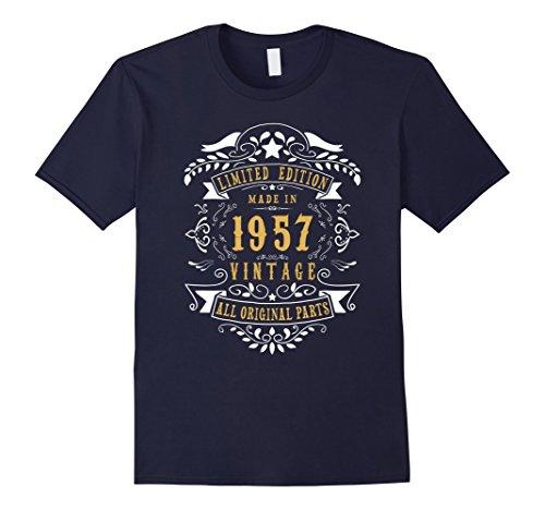 60-years-old-made-birth-in-1957-60th-birthday-gift-t-shirt-herren-grosse-2xl-navy