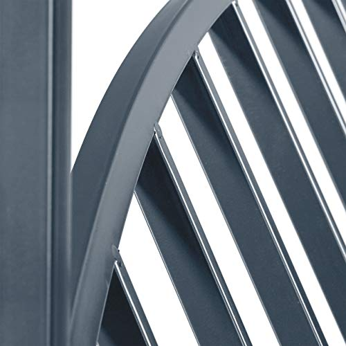 Relaxdays Rosenbogen mit Bank, robustes Metall, 2-Sitzer Deko-Gartenbank, Rankhilfe, HxBxT: 205 x 115 x 50 cm, schwarz - 6