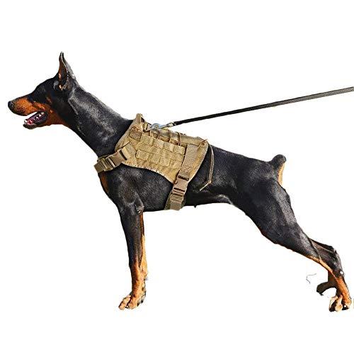 Snaked cat Arnés de Entrenamiento táctico para Perros K9 de la policía de Gatos para Entrenamiento Militar, Ajustable, Resistente al Agua, para Perros Grandes o Caminar