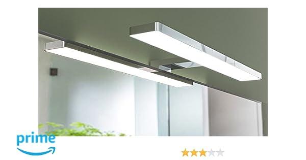 Lampada da bagno lybra tecnologia led applique specchio slim&light