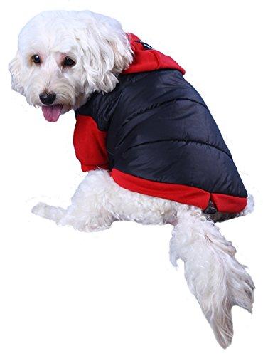 Doggy Dolly W110 Hundejacke Wasserabweisend mit Kapuze, schwarz/rot, Wintermantel / Winterjacke, Größe : XXL - 3