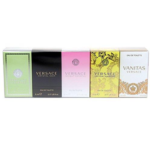 Versace Mini Set For Her Confezione Regalo 5ml Eau De Toilette Versense + 5ml Eau De Toilette Crystal Noir + 5ml Eau De Toilette Bright