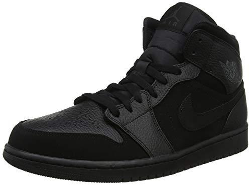 Nike Air Jordan 1 Mid, Zapatillas de Deporte para Hombre, Dk Smoke GreyBlack 064, 43 EU