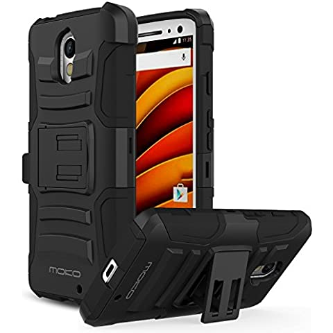 Motorola X Force Case - MoKo [Heavy Duty] Full Body Rugged Holster Cover with Swivel Belt Clip - Dual Layer Shock Resistant for Moto X Force 5.4 Inch 2015 Smartphone,