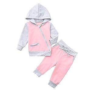 Baby Jungen Mädchen Kleidung Set Trainingsanzüge Sweatshirt Mit Kapuze Tops + Hosen Outfits Set Säugling Kleinkind…