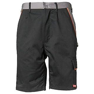 Planam Shorts Visline, größe L, schwarz / orange / zink, 2471052