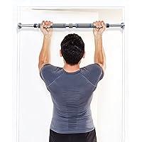 WawaVita Barra de dominadas para pared, carga maxima 200kg, Barra de entrenamiento adjustable de 60cm pulgadas a 100cm - profesional, telescópica, para puerta, Negro