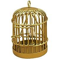 Jaula de casa de muneca - SODIAL(R) 1:12 Jaula de pajaro en miniatura de casa de muneca de metal