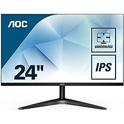 "AOC 24B1XHS – Monitor IPS de 24"" con Pantalla Full HD (IPS, HDMI, Sin Bordes, Ultrafino, Flicker Free, Low Blue Light y VESA)"