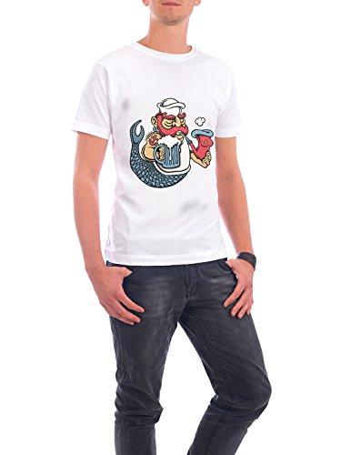 """Design T-Shirt Männer Continental Cotton """"Sailor Mermaid II"""" - stylisches Shirt Städte / København Menschen Streetart Fiktion von Copenhagenposter Weiß"""