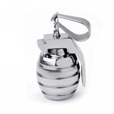 Homme Pendentif Grenade Armée Acier Inoxydable Accessoire Pr Collier Chaîne