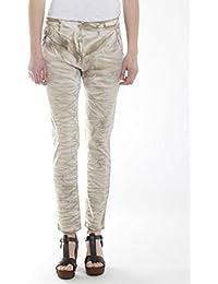 Carrera Jeans - Pantalón 771 para mujer, tiro caído, efecto teñido, tejido gabardina, ajuste suelto, cintura normal