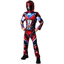 Red Ranger Deluxe - Power Rangers Película - Disfraz de Niño Disfraz - Pequeño - 104cm - Edad 3-4