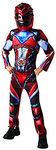 Saban - I-630711M - Déguisement Luxe Power Rangers - Rouge - Taille M