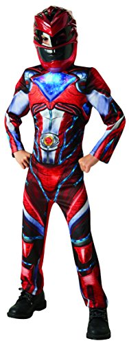 Rubie's 3630711 - Red Power Rangers 2017 Deluxe, Action Dress Ups und Zubehör, L