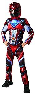 Power Rangers - Disfraz Ranger Rojo Deluxe para niños, 7-8 años (Rubie