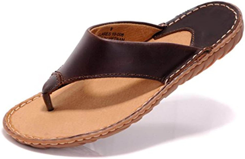 DHFUD Zapatillas Para Hombres Chanclas De Cuero De Verano Chanclas Coreanas Sandalias