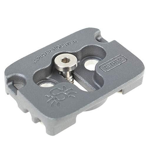 Spider Tether Cable Plate Arca-kompatible Kameraplatte mit integrierter Kabelführung zur Zugentlastung (Elektronik-tether)