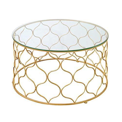 Couchtische Metall Sofa Tische für Wohnzimmer Runde Beistelltische für Balkon Lesetische für Kinder mit φ60cm × 45cm / φ80cm × 45cm -