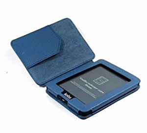Blue Color 62g Artificial Leather Cover Case for KOBO MINI eReader