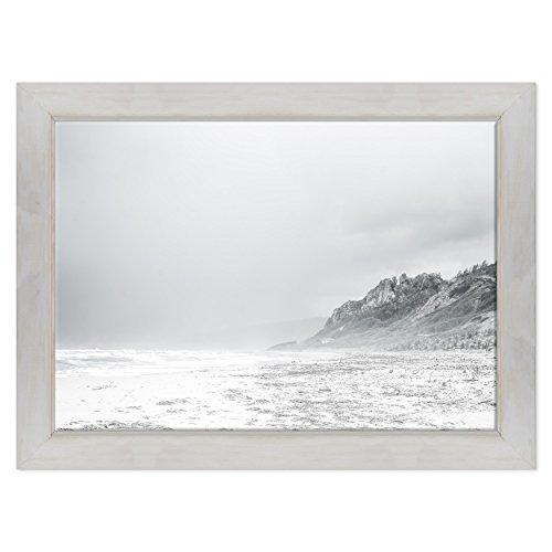 ConKrea Quadro auf Leinwand Canvas - fertig Zum Aufhängen - Montagne Ansel Adams Weiß und Schwarz - Natur Panorama Dimensione: 70x100cm D - Colore Bianco Shabby -