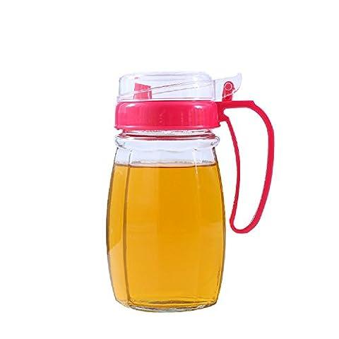 dealglad® 620ml Haushalt Küche Glas Öler auslaufsichere Dichtung Flasche für Sojasoße Essig Essig (zufällige Farbe)