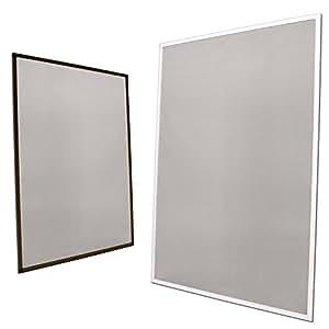 Moustiquaire fen tre avec cadre cadre marron 80 x 100 for Cadre fenetre aluminium