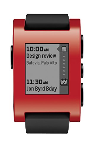 "Pebble Classic - SmartWatch (pantalla 1.26"", Bluetooth, 128 KB, ARM Cortex-M3), color rojo"