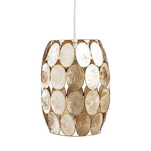 Lámpara de Techo de nácar Dorada de salón Vintage para Comedor Sol Naciente - LOLAhome