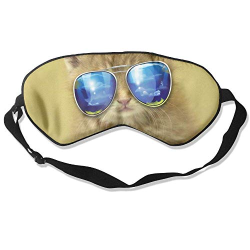 86aeaf60bfd Sunglasses Cat Silk Sleep Eye Mask Lightweight And Comfortable Blindfold  With Adjustable Strap