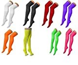 CRAZY CHICK New Ladies Girls Over The Knee Plain Lycra Socks Assorted Colours Women Thigh High Socks UK Size 4-6