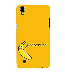 For LG X Power :: LG X Power K220DS K220 banana cartoon, cartoon, good quotes, undress me, yellow background Designer Printed High Quality Smooth Matte Protective Mobile Case Back Pouch Cover by APEX