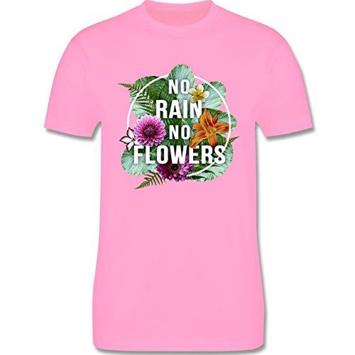 Blumen & Pflanzen - No Rain No Flowers - Herren Premium T-Shirt Rosa