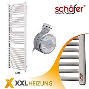 Elektrische Badheizk/örper Sch/äfer /® TERMA Handtuchheizk/örper Oval, 600 x 1800 mm WON