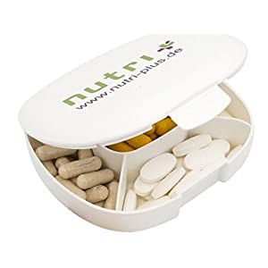 Nutri-Plus Pillendose Pillenbox Tablettendose Tablettenbox 5 Fächer (11 x 10 x 3) cm …