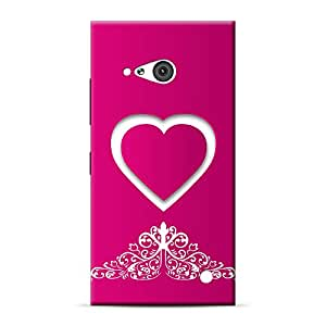 INKIF Van Painting Designer Case Printed Mobile Back Cover for Microsoft Lumia 730 (Pink )