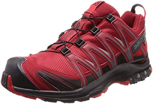 Salomon XA PRO 3D GTX, Scarpe da Trail Running Uomo, Rosso Red Dahlia/Black/Barbados Cherry, 43 1/3 EU