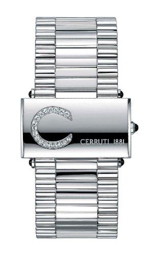 Cerruti CT068282004 - Reloj analógico de mujer de cuarzo con correa de acero inoxidable plateada - sumergible a 30 metros