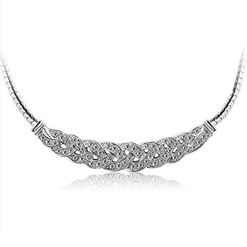 JMZDAW Halskette Anhänger Jewel Twisted Twisted Schlüsselbein Kette Strass Kurze Halskette Chunky Gold Silber Halskette Charme, B (Halskette Jewel Chunky)