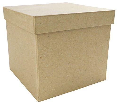 Décopatch BT039O Box quadratisch aus Pappmaché, 16 x 16 x 14 cm, Zum Verzieren, perfekt für Ihre...