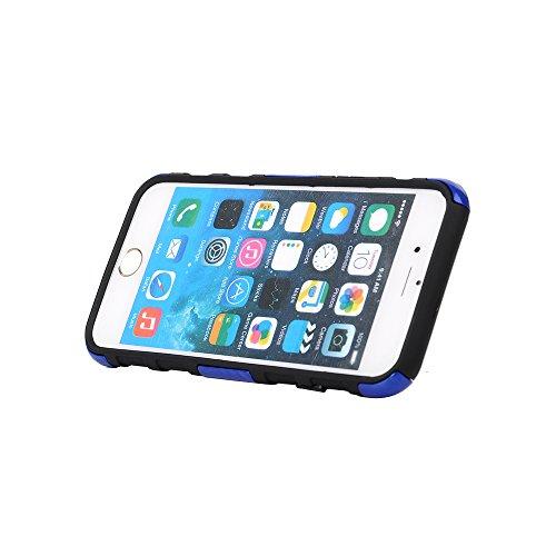 "MOONCASE iPhone 6 Case Dual Layer hybride Hard Shell Béquille Cover Housse Coque Etui Case pour iPhone 6 (4.7"") Blanc saphir"
