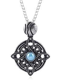 Biezutu The Elder Scrolls Alloy Pendant Necklace Vintage Talisman Halskette für Männer und Frauen