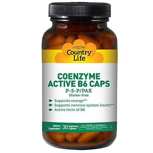 Country Life, glutenfrei, Aktiver B-6 Caps, P5P/PAK, 30 Veggie Caps