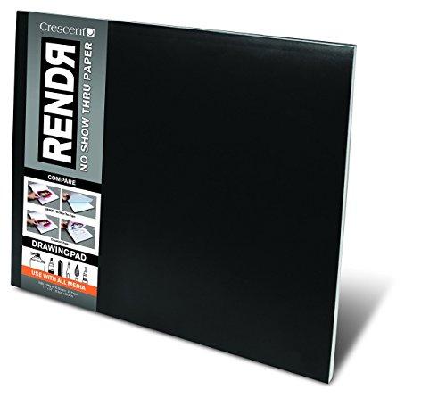 RENDR Markerpapier - großes Zeichenblock 32 Seiten/16 Blatt - 180g - 28x35,5cm